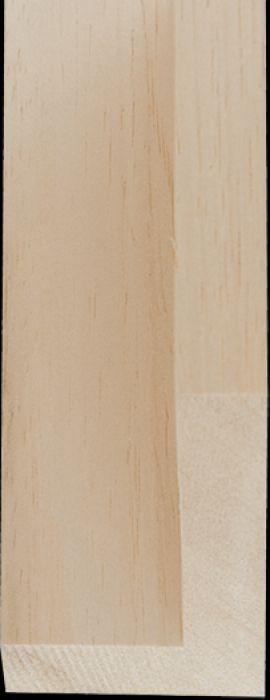 Blanke baklijst 3 D breedte 18 mm