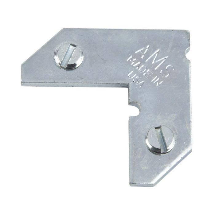 Geschroefde hoekverbinder aluminium lijsten