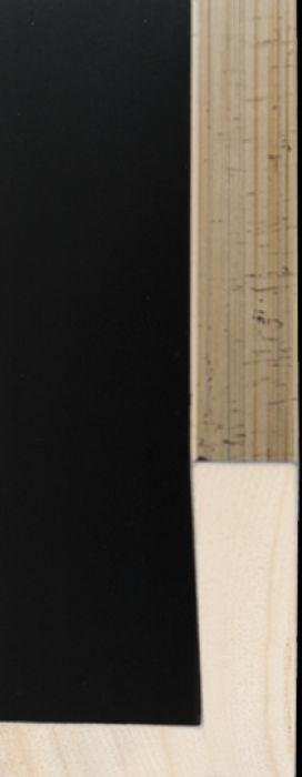 Houten baklijst 3 D zwart /zilver breedte 18 mm