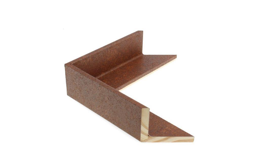Houten baklijst - TOUCHOXIDE - Roest-geoxideerd 3D baklijst Profielbreedte: 47 mm