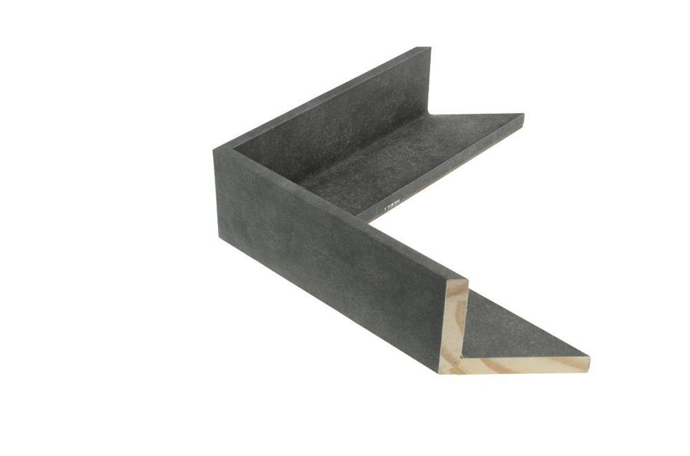 Houten baklijst - TOUCHSTONE - Steen-Donkergrijs 3D baklijst