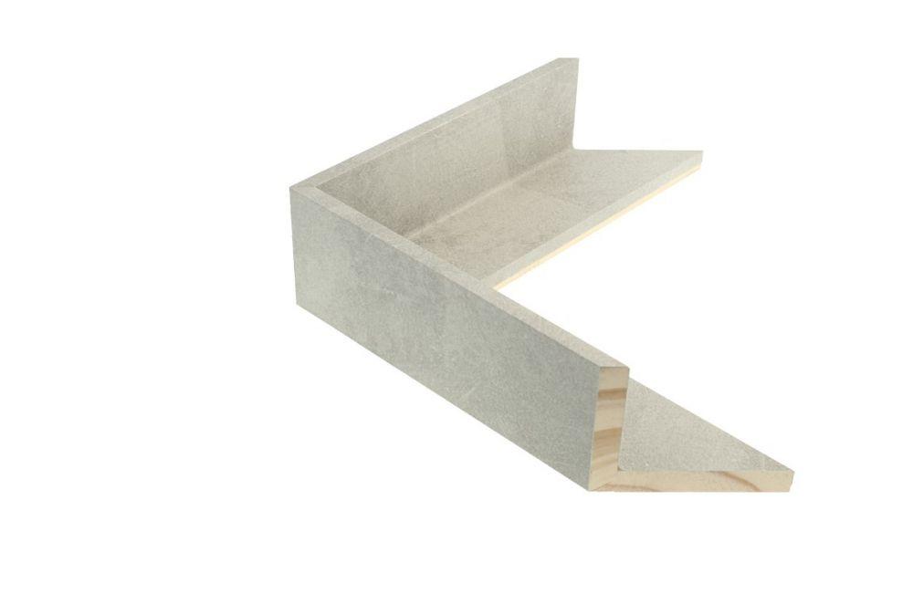 Houten baklijst - TOUCHSTONE - Steen-Lichtgrijs 3D baklijst