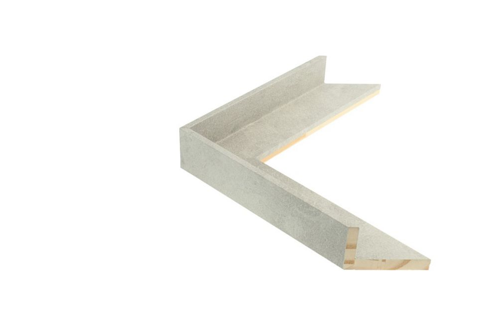 Houten baklijst - TOUCHSTONE - Steen-Lichtgrijs baklijst Profielbreedte: 38 mm