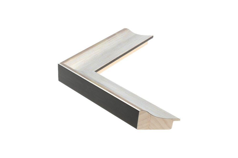 Houten lijst - - ANJOU - Zilver 40 mm