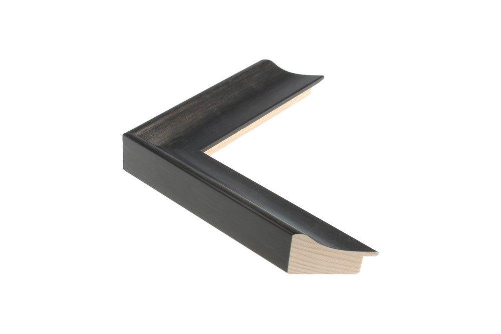 Houten lijst - - ANJOU - Zwart 40 mm