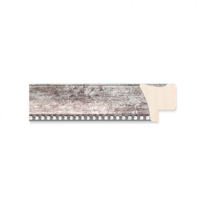 Houten lijst -- Antraciet met kraal breed 22 mm