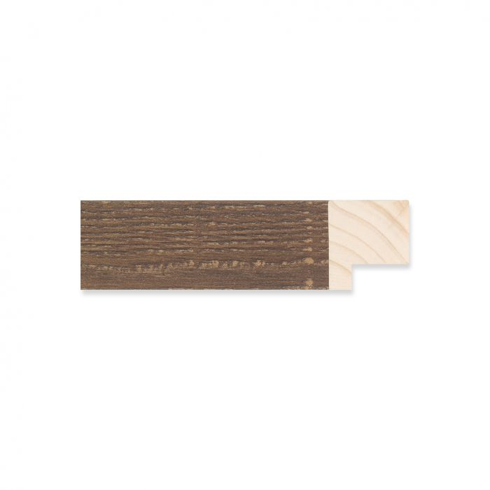 Houten lijst -  Bruingewassen Eiken breedte 22 mm