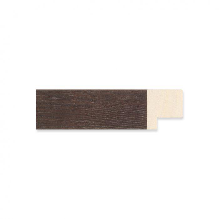 Houten lijst - Bruingewassen Walnoot breedte 22 mm