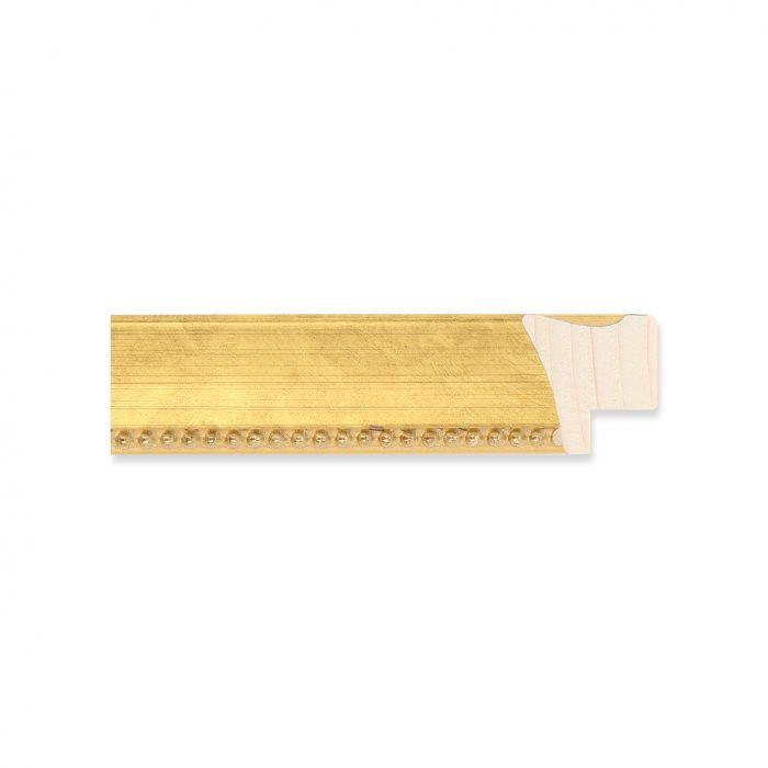 Houten lijst -  Goud met kraal breed 22 mm