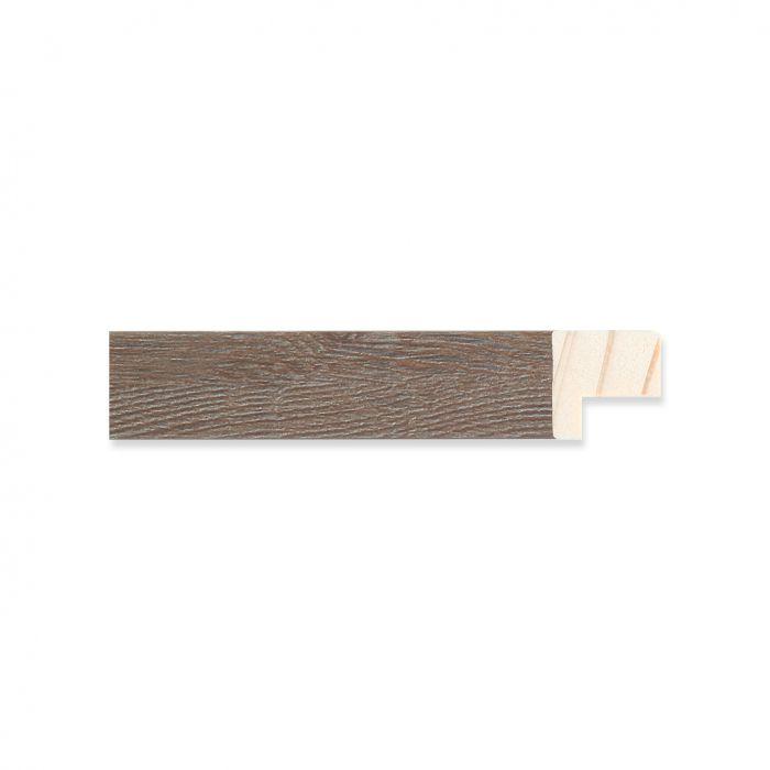 Houten lijst - Grijsgewassen Walnoot breed 17 mm