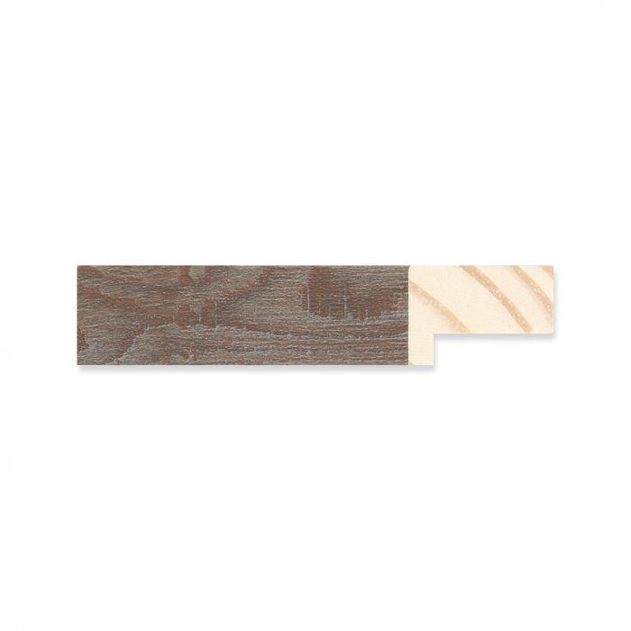 Houten lijst - Grijsgewassen Walnoot breedte 19 mm