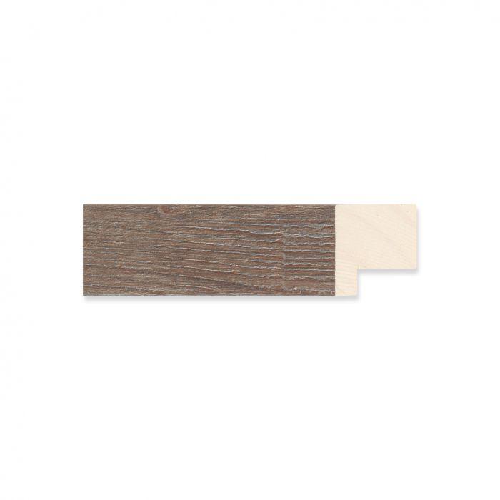 Houten lijst - Grijsgewassen Walnoot breedte 22 mm