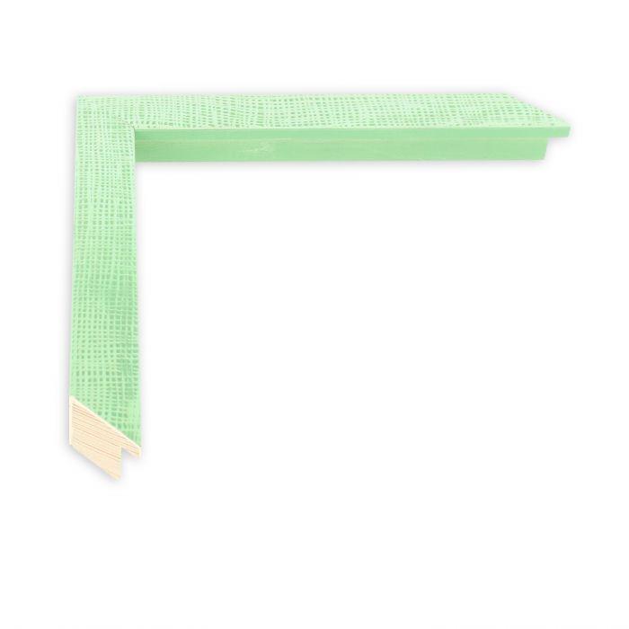 Houten lijst - HEMMA-II - Groen gaasstructuur