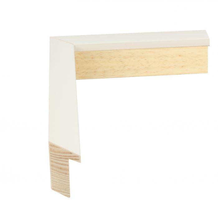 Houten lijst - LOFT 16 - Wit op gesso  16 mm