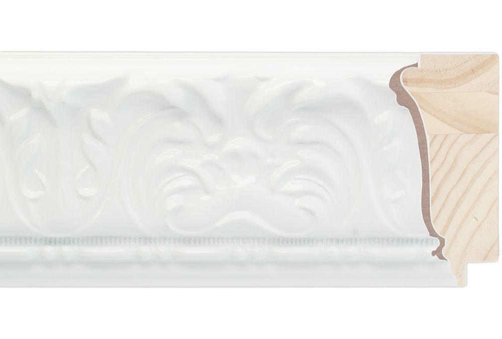 Houten lijst - PRAGUE  - Hoogglans Wit Breed