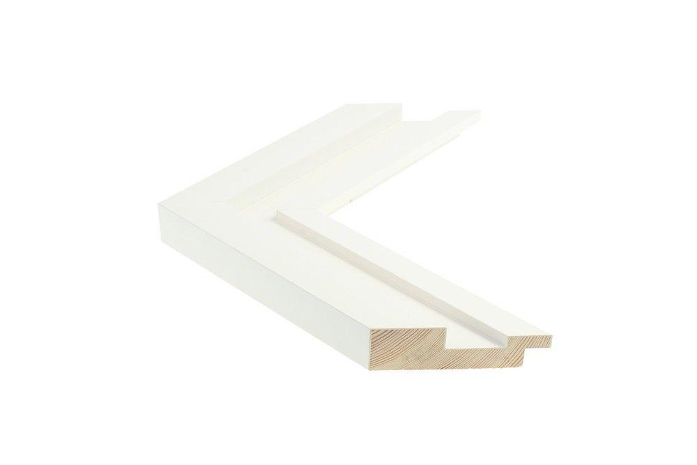 Houten lijst - SHUTTER - Wit Foam-Arcylaat lijst  Profielbreedte: 54 mm
