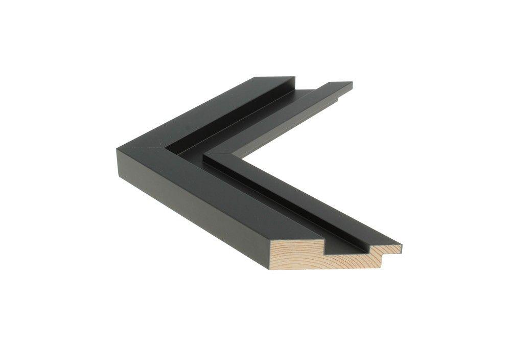 Houten lijst - SHUTTER - Zwart Foam-Arcylaat lijst Profielbreedte: 54 mm