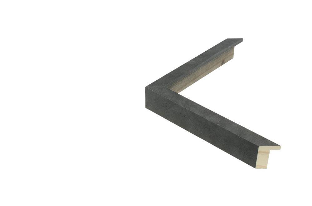 Houten lijst - TOUCHSTONE - Steen-Donkergrijs breed 15  mm