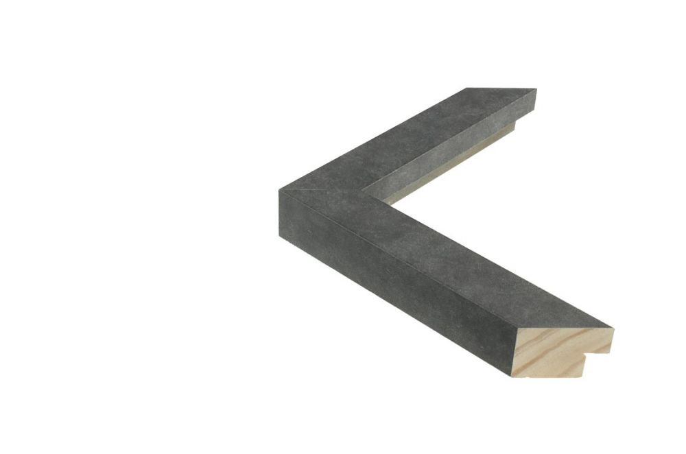 Houten lijst - TOUCHSTONE - Steen-Donkergrijs breed 30 mm