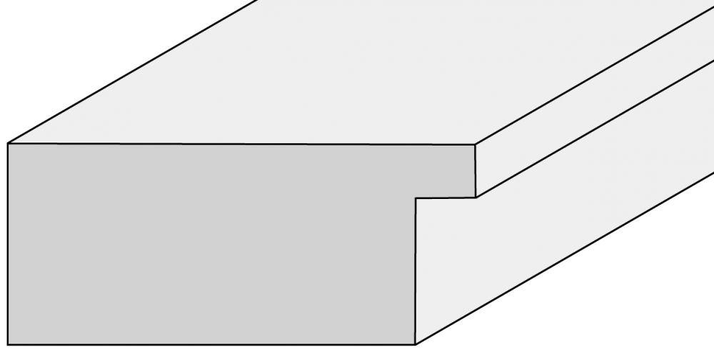 Houten lijst - TOUCHWOOD ART (T-WOOD ART) - Walnoot - fineer Profielbreedte: 70 mm