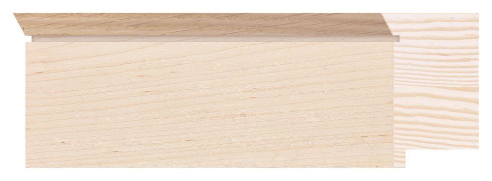 Houten lijst - TOUCHWOOD UNIQUE - Eiken / Esdoorn - fineer Profielbreedte: 60 mm
