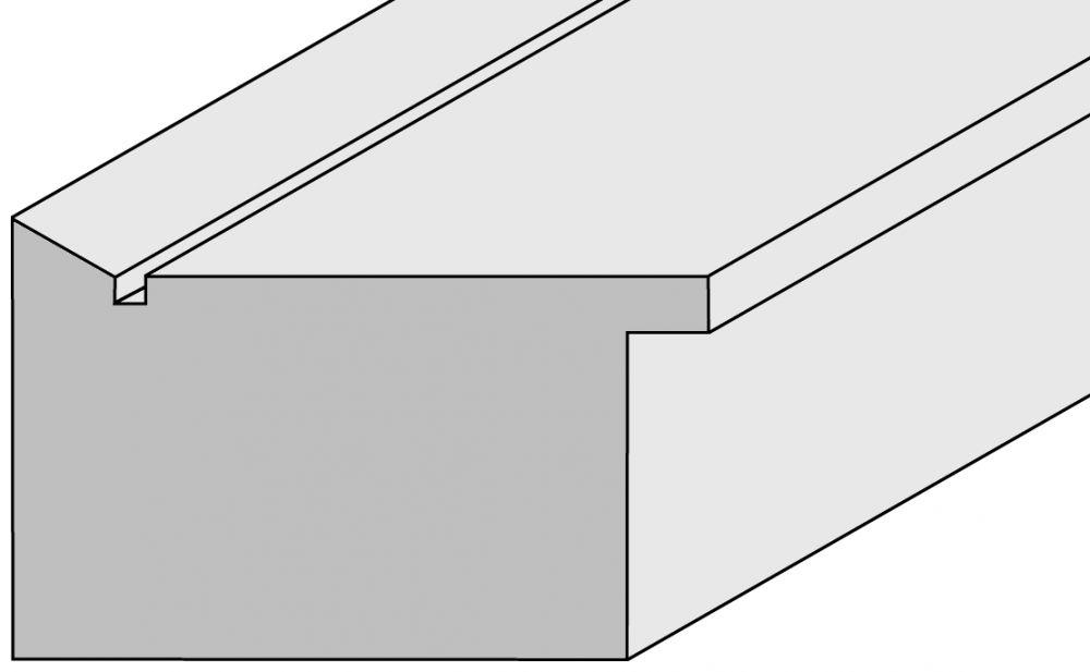 Houten lijst - TOUCHWOOD UNIQUE - Walnoot - fineer Profielbreedte: 60 mm