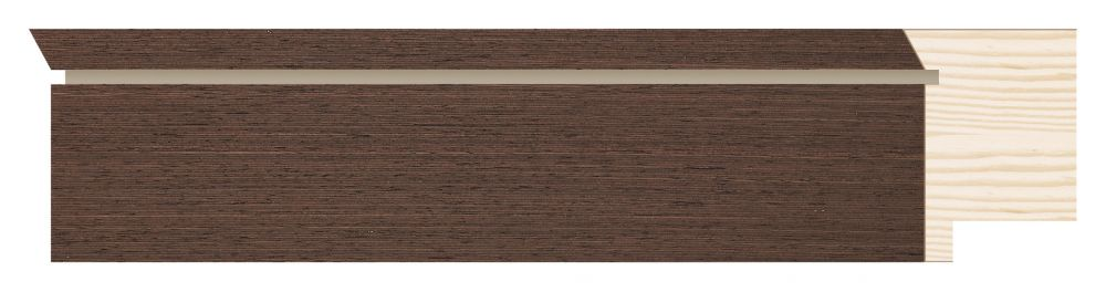 Houten lijst - TOUCHWOOD UNIQUE - Wenge - fineer Profielbreedte: 40 mm