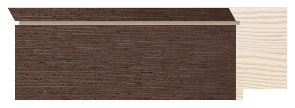Houten lijst - TOUCHWOOD UNIQUE - Wenge - fineer Profielbreedte: 60 mm
