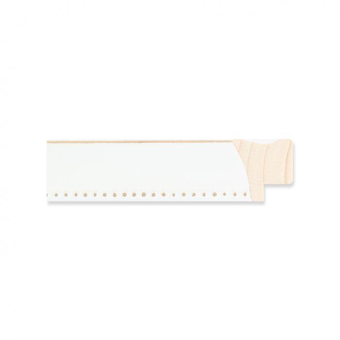 Houten lijst- Wit met kraal breedt 22 mm