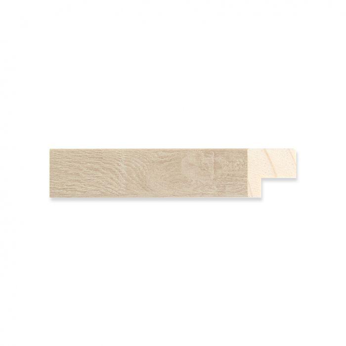 Houten lijst -  Witgewassen Eiken breed 17 mm