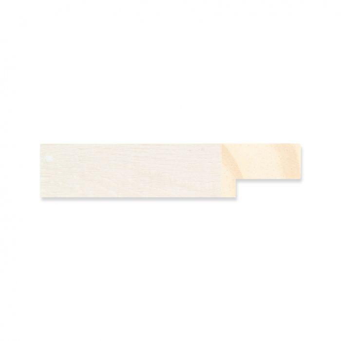 Houten lijst - Witgewassen Esdoorn  breed 19 mm
