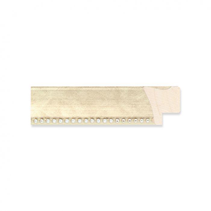 Houten lijst - Zilver met kraal breed 22 mm