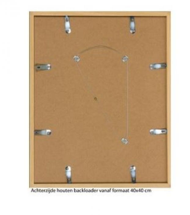 HOUTEN WISSELLIJST M200 BLANK ONGELAKT (helder glas)