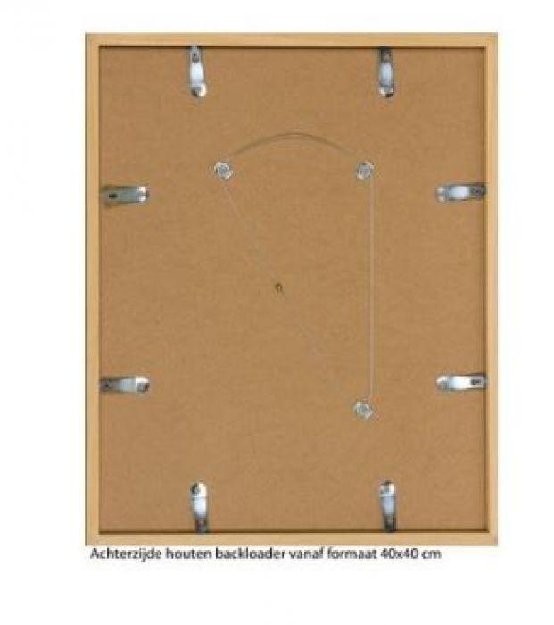 HOUTEN WISSELLIJST M34500 BLANK GELAKT (helder glas)