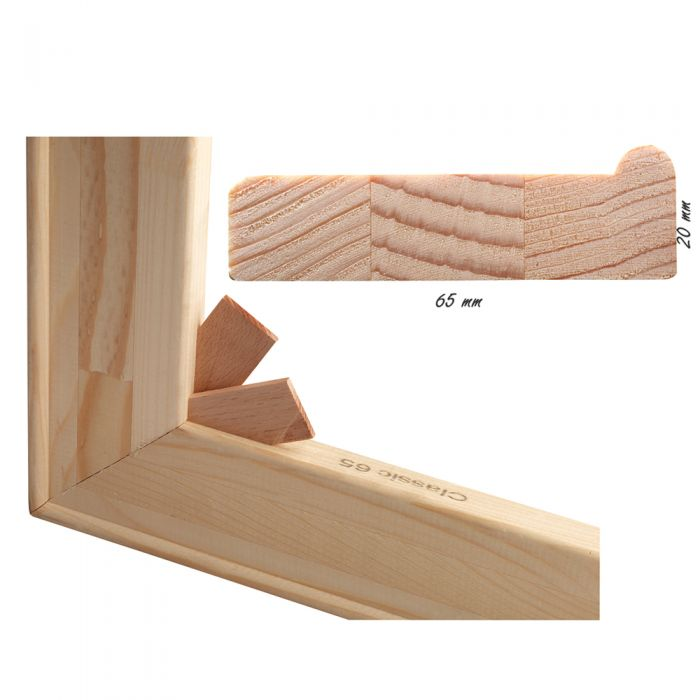 kruislat of tussenlat voor spielatten  65 mm x 20 mm per stuk