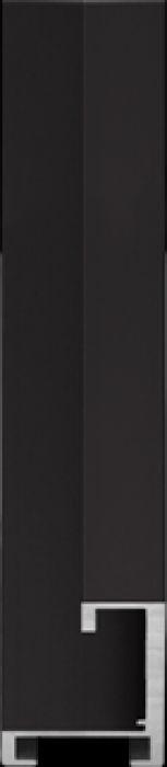 largo aluminium lijst 35-250 zwart mat