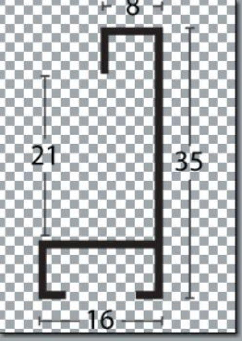 largo aluminium lijst  35-318 paars
