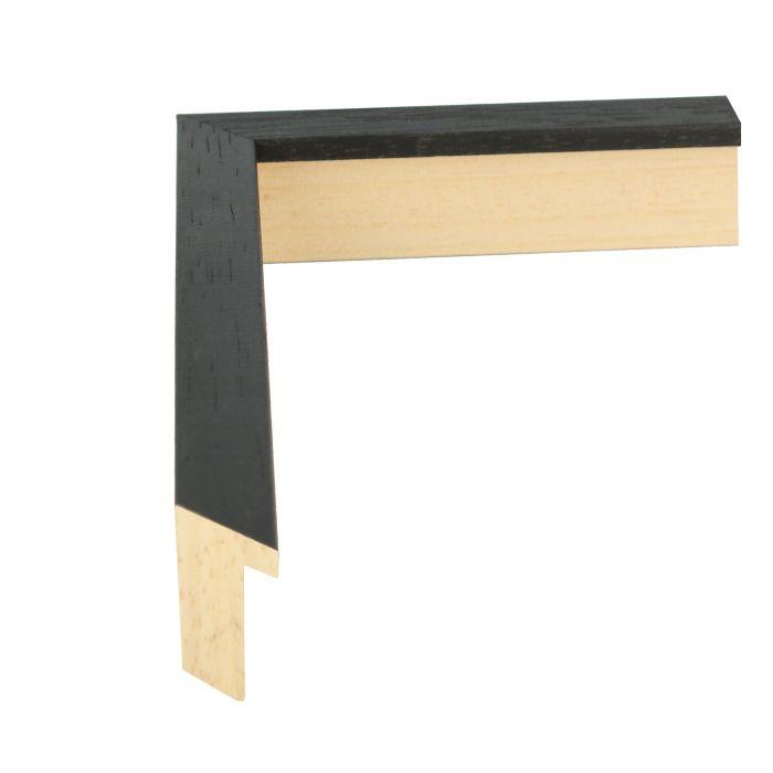 houten lijst LOFT 16 - Zwart 16 mm