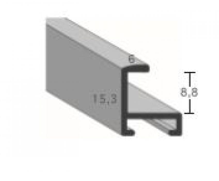 Profiel 404 - Glanzend geborsteld zilver