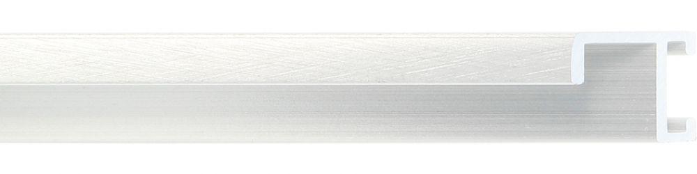 Profiel 404 - Kruisgeborsteld zilver mat