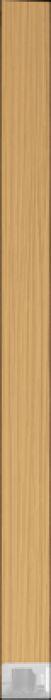spacer  D8-320 oak veneer raw inleg profiel