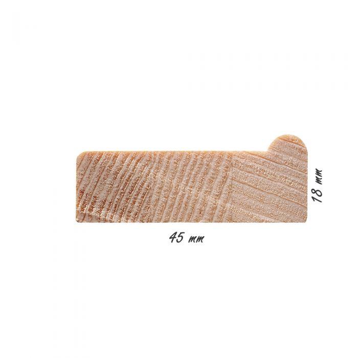 Spielatten 45 mm X 18 mm (met gat) per stuk
