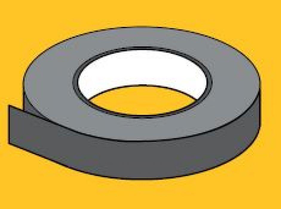 Spieraam plakband  Rolbreedte 50 mm zwart