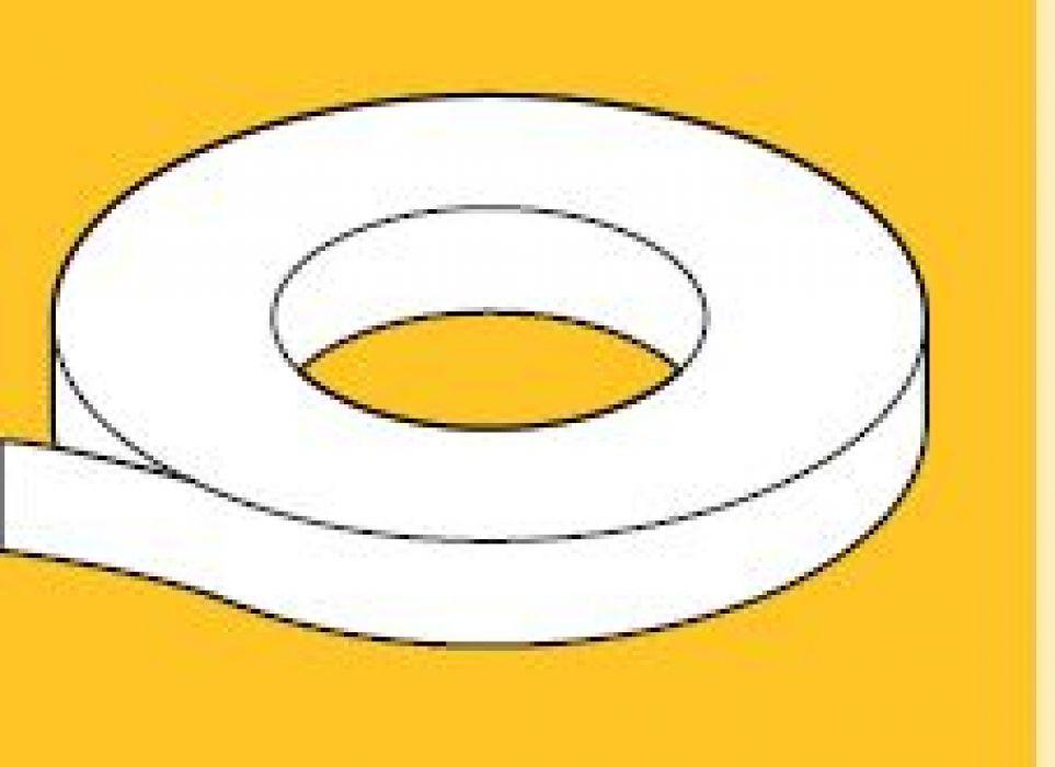 Spieraam plakband wit  Rolbreedte 50 mm
