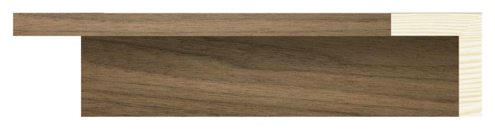Walnoot baklijst - fineer Profielbreedte: 40 mm