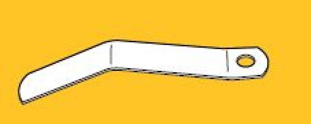 Wisselveer speciaal  geblauwd verenstaal. Lengte 6 cm