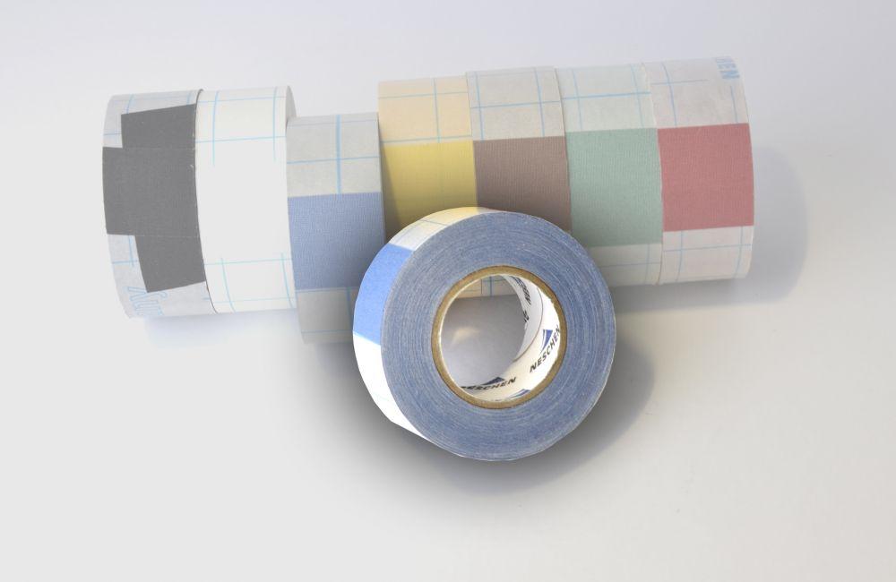 zelfklevend linnentape  Filmoplast (zuurvrij) blauw - 30mm x 10mtr