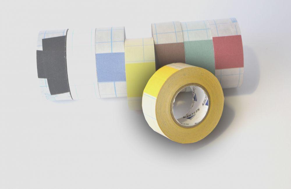 zelfklevend linnentape Filmoplast (zuurvrij) geel - 30mm x 10mtr