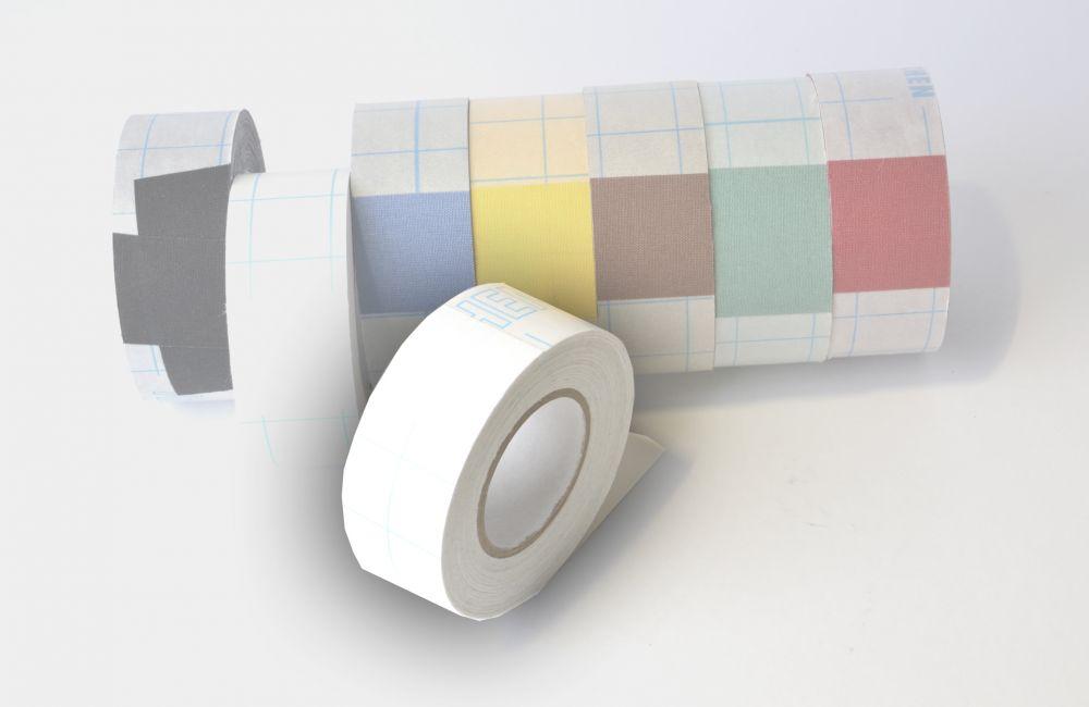 zelfklevend linnentape  Filmoplast (zuurvrij) wit - 30mm x 10mtr