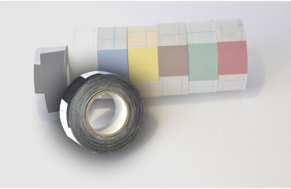zelfklevend linnentape  Filmoplast (zuurvrij) zwart - 30mm x 10mtr